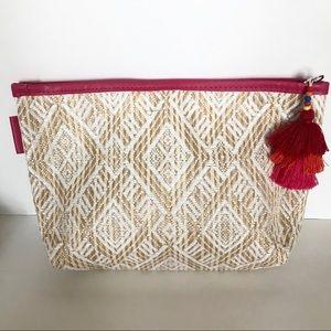 Sephora Favorites Straw Tassel Makeup Bag Pouch